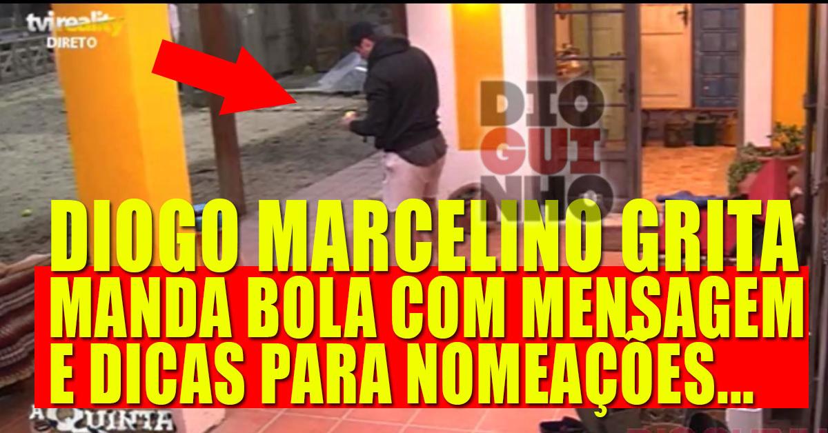 Photo of Diogo Marcelino grita para a Quinta. Manda bola com mensagem. Dicas de nomeações