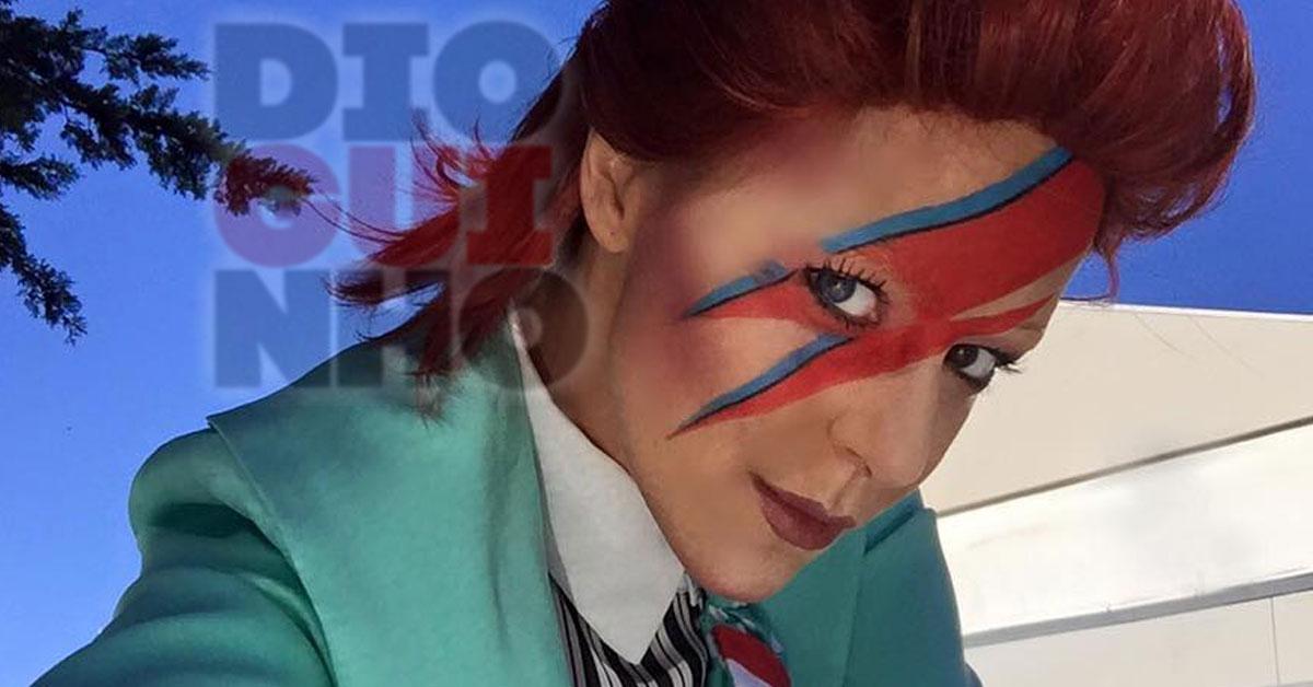 Leonor Poeiras imitou David Bowie