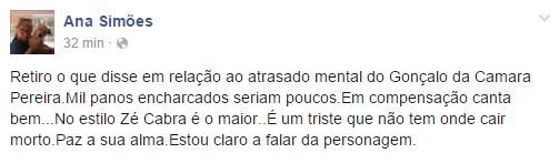 Ana Bola insulta Gonçalo da Câmara Pereira