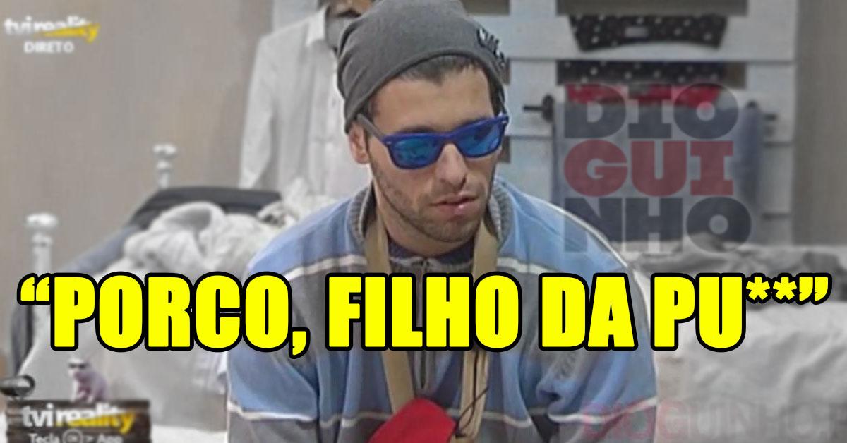 """Photo of Bernardina passou-se com o Tiago """"és um porco, filho da pu**"""""""