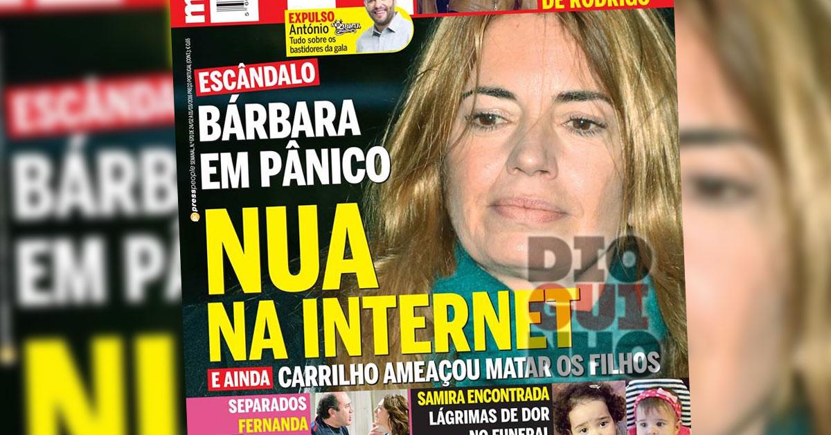 Bárbara Guimarães nua na Internet