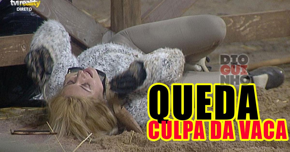 Photo of Agnes dá grande queda a fugir da vaca