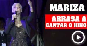 Mariza arrasa a cantar o Hino Nacional