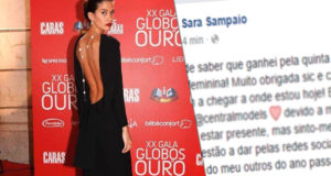 Sara Sampaio vence Globo de Ouro