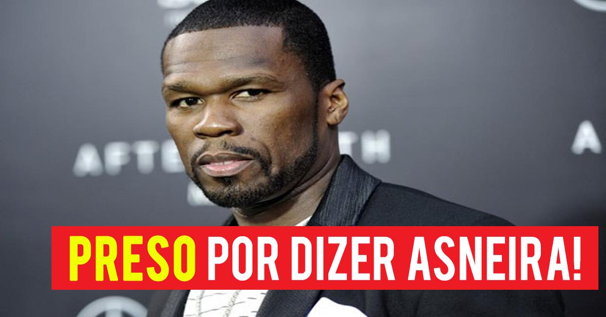 Photo of Cantor 50 Cent preso após dizer palavrão durante um concerto