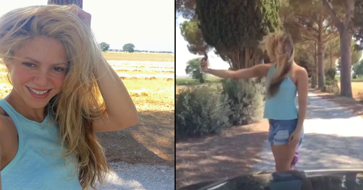 """Photo of Piqué filma as dificuldades de Shakira em tirar uma """"selfie"""""""