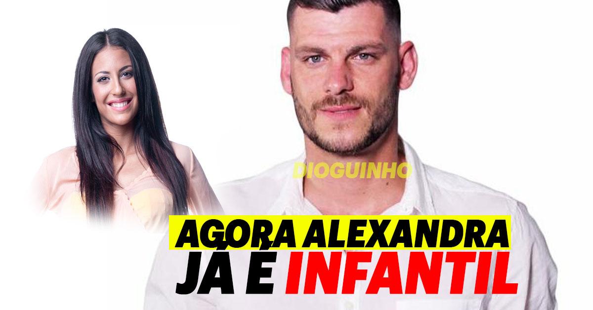 Photo of Fábio agora acha que Alexandra Rocha é infantil