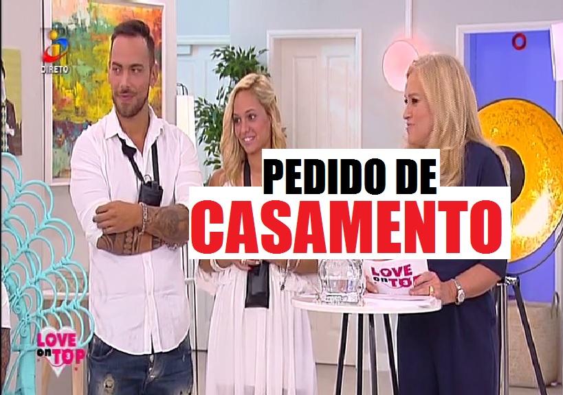 Photo of Jorge pediu Sandra Castilho em casamento em directo