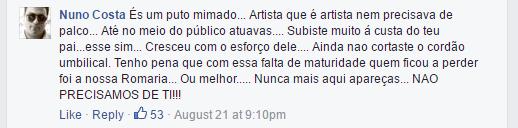DAVID CARREIRA RECUSA DAR CONCERTO EM CIMA DA HORA