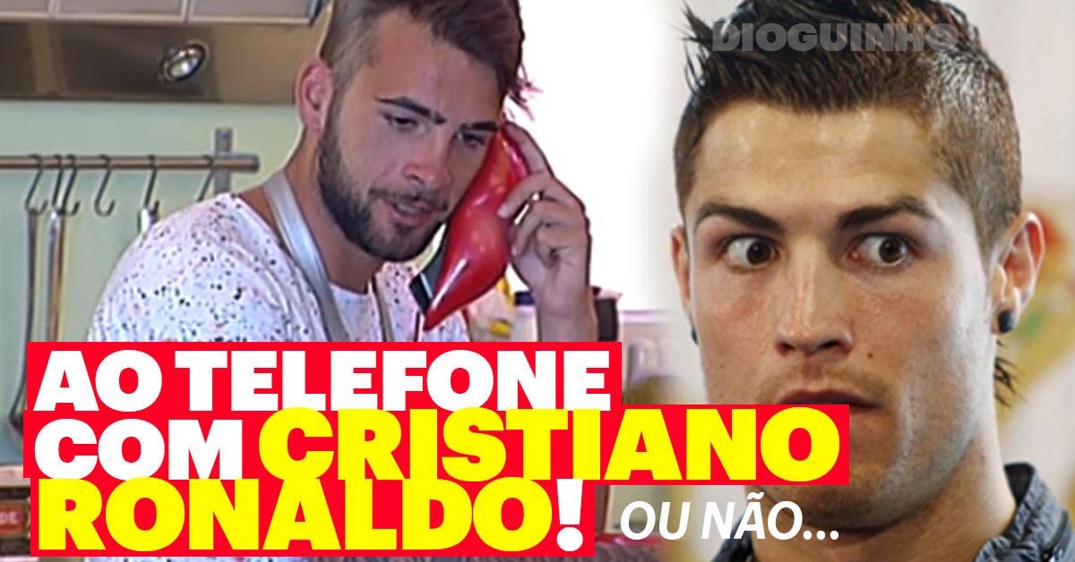 Photo of Fazem ligação fictícia para Cristiano Ronaldo, e esticam-se