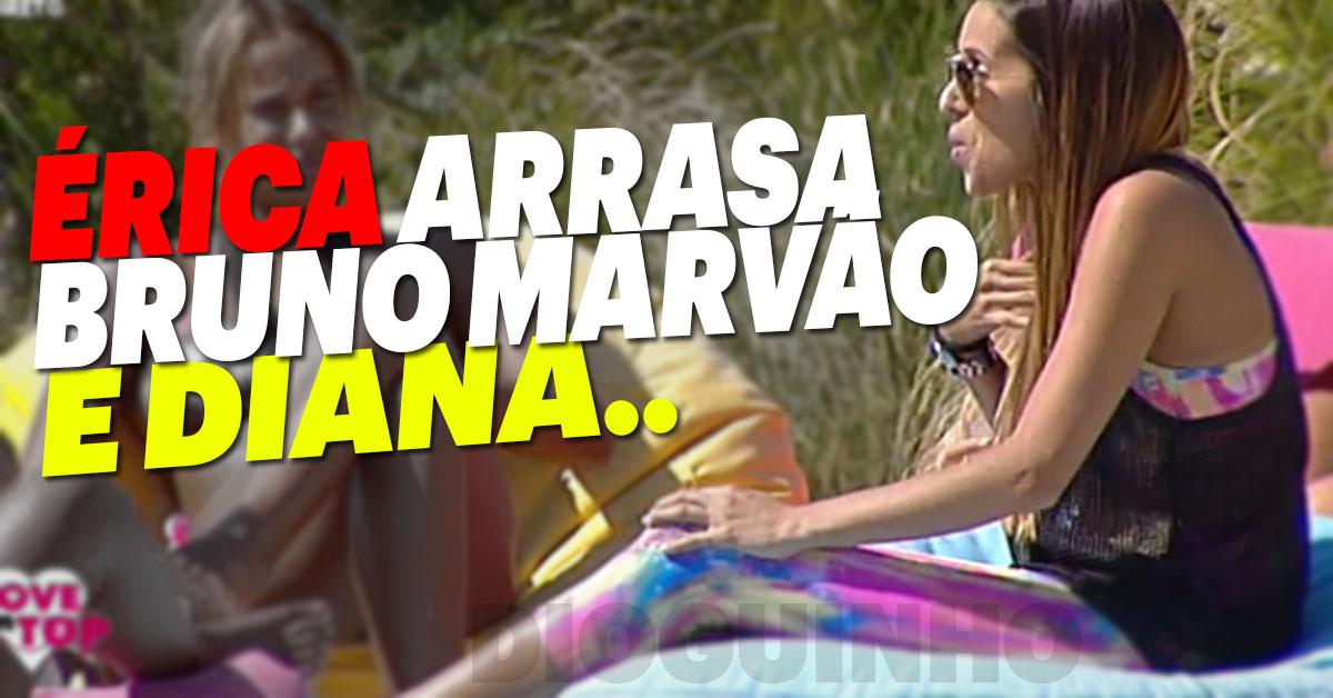 """Photo of Érica Silva não gosta de Bruno Marvão """"OTÁRIO"""""""