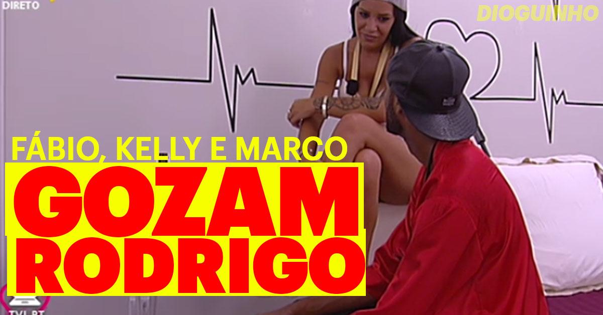 Photo of Marco, Kelly e Fábio gozam e expulsam Rodrigo do Quarto do Amor