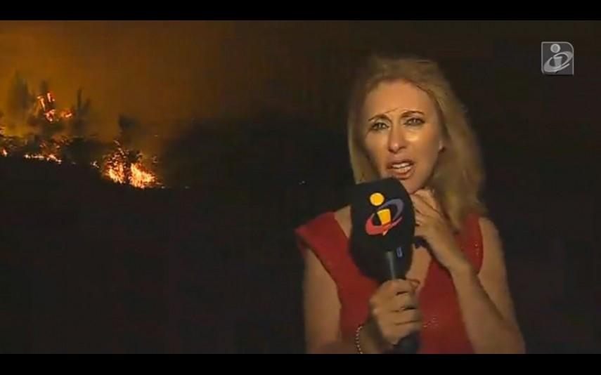 Photo of Judite Sousa teve de abandonar reportagem por risco de cerco das chamas