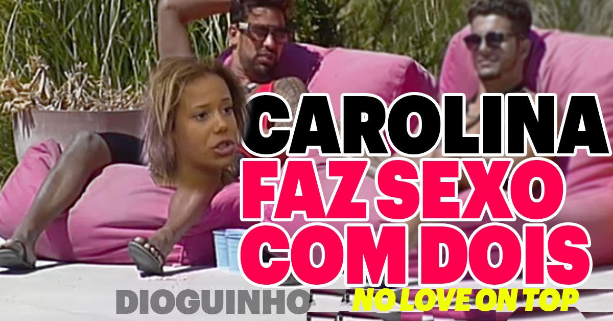 Photo of Carolina PINOU com o Bruno Esteves no Love on Top 3