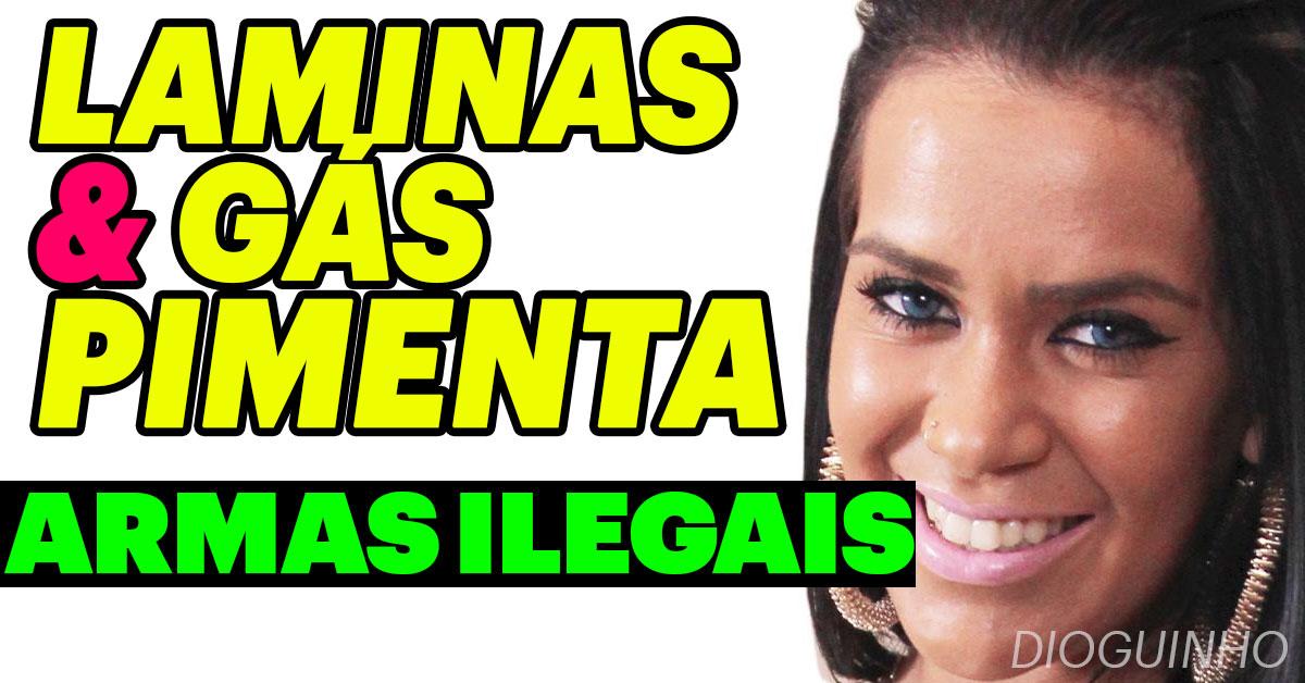 Photo of Kelly costuma andar com armas ilegais: laminas e gás pimenta
