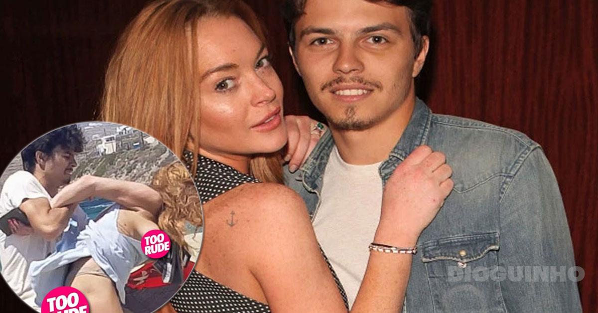 Photo of Lindsay Lohan reage aos episódios violentos com o noivo