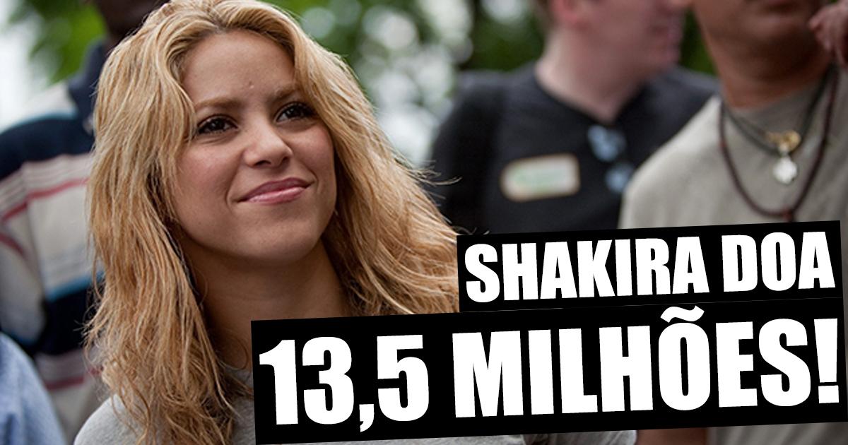 Photo of Shakira doa mais de 13 milhões de euros ao Haiti