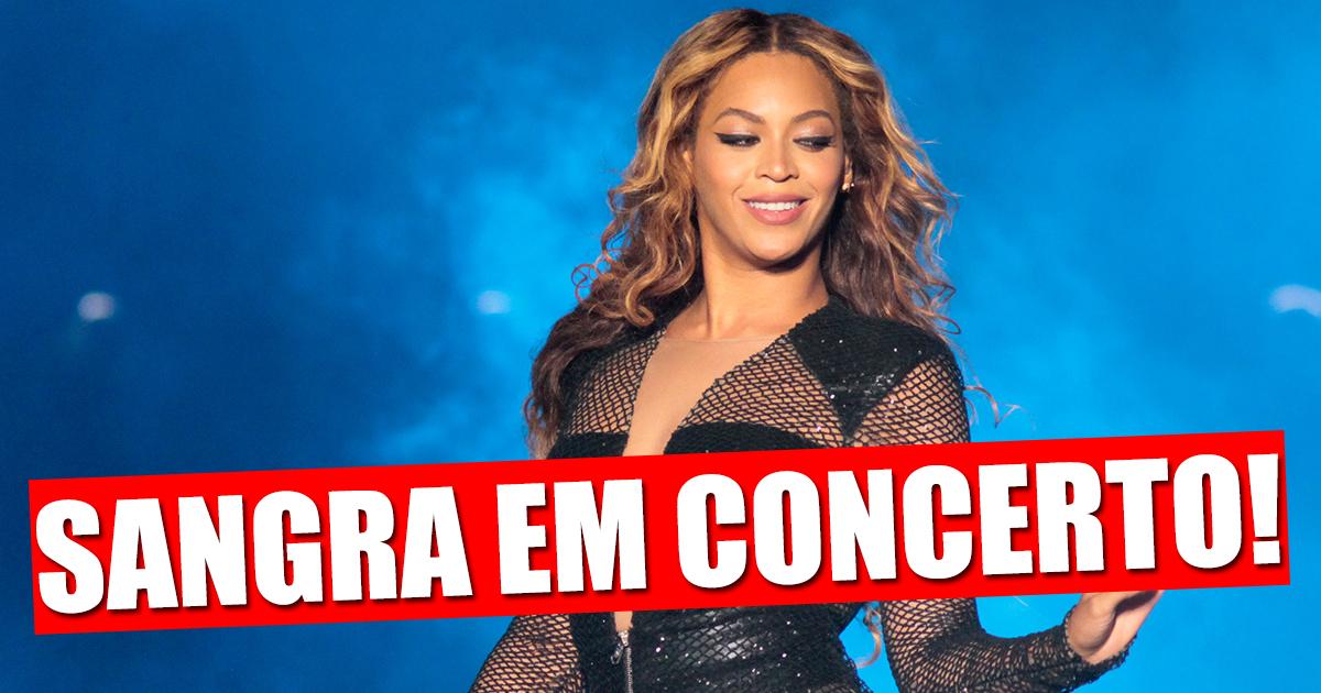 Photo of Beyoncé fica a sangrar em palco mas não pára o concerto
