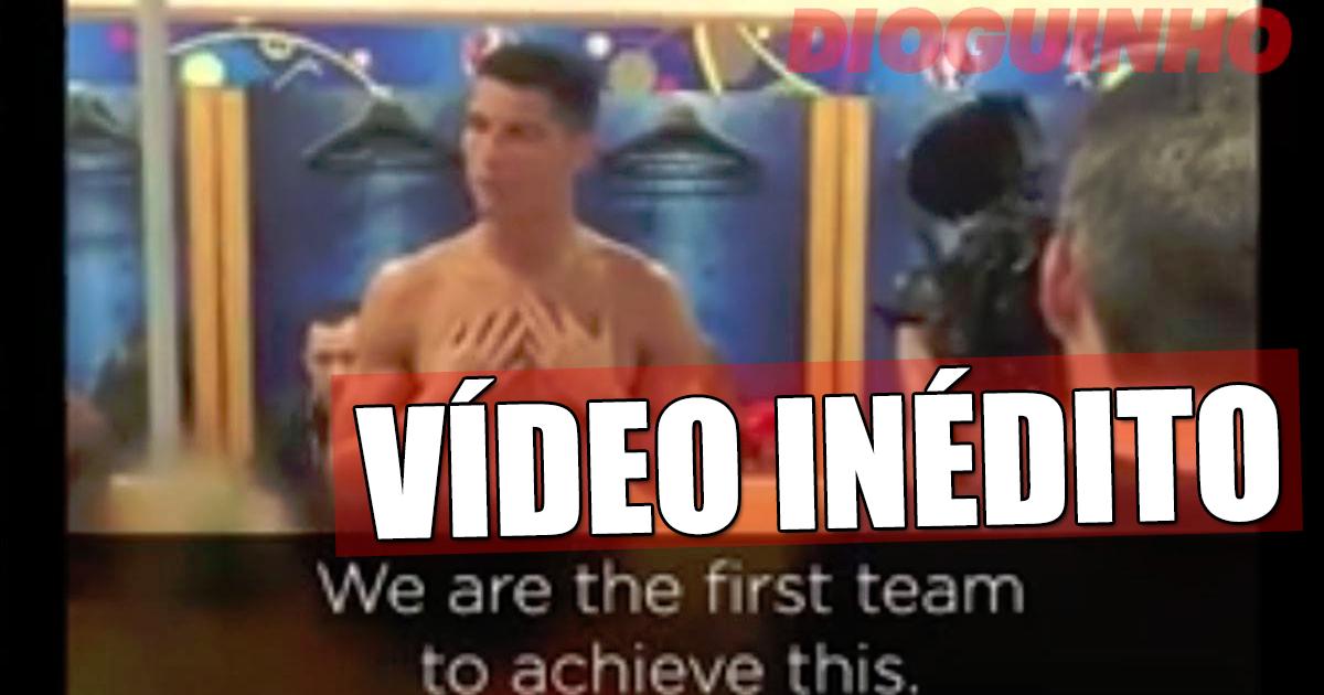 Photo of Divulgado vídeo inédito de Cristiano Ronaldo após a vitória no Euro 2016