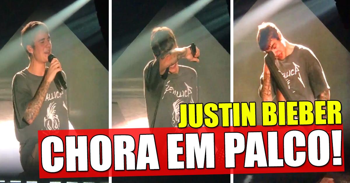 Photo of Justin Bieber não aguentou e chorou em palco
