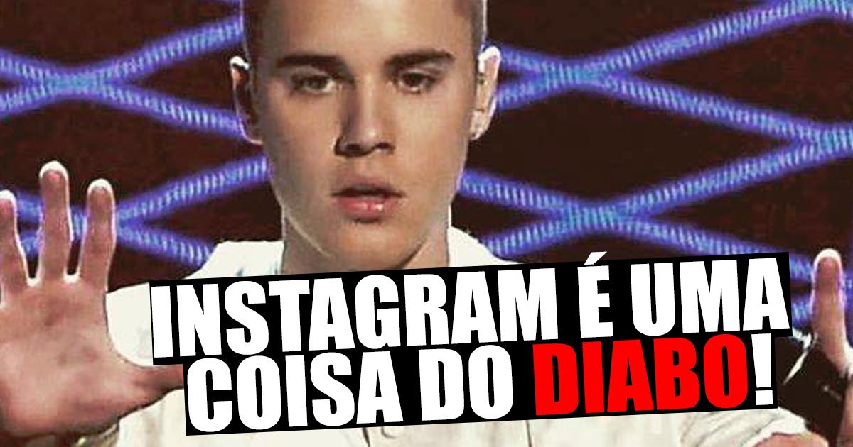 """Photo of Justin Bieber diz que o Instagram é """"uma coisa do diabo"""""""