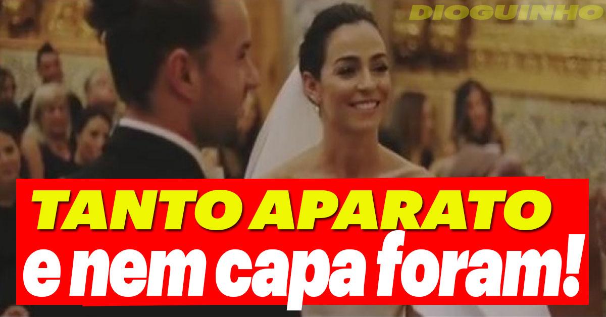 Photo of Marco Costa e Vanessa Martins: Tanto aparato no casamento e nem capa foram