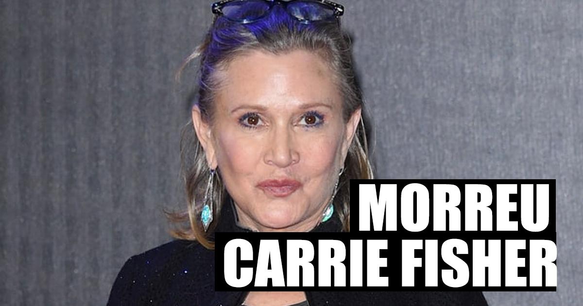 Photo of Morreu Carrie Fisher, a princesa Leia da saga 'Star Wars'