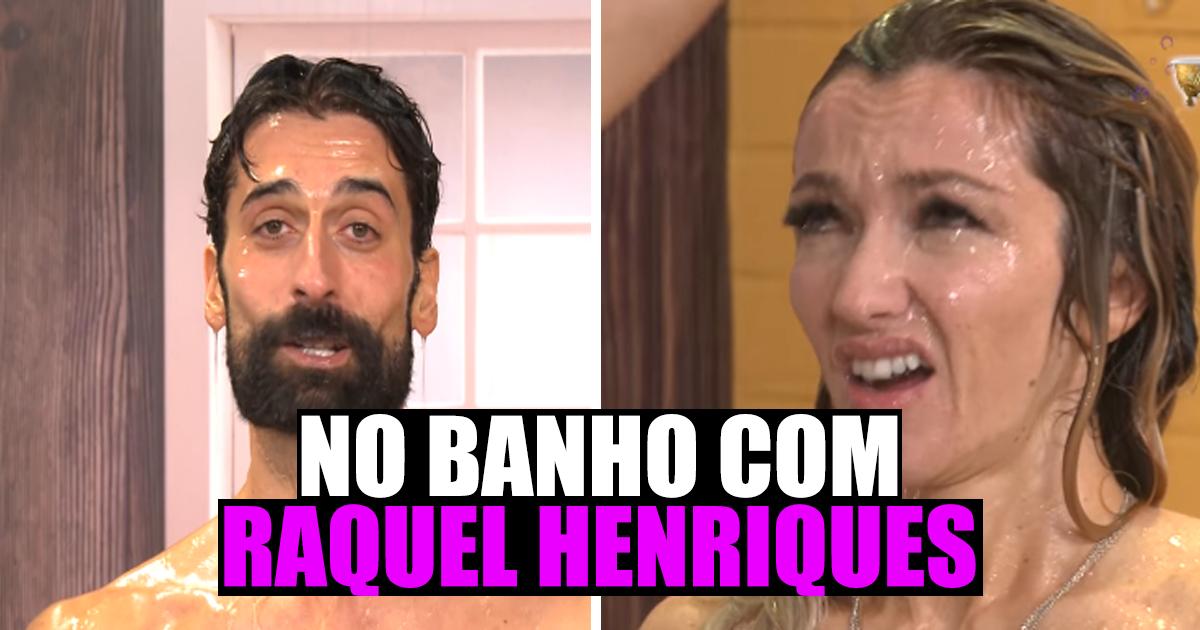 Photo of António Raminhos foi tomar banho com Raquel Henriques