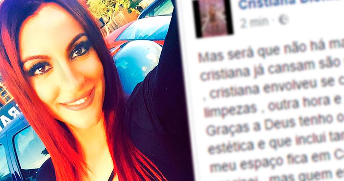 Photo of Cristiana INDIGNADA com notícias de que está na miséria