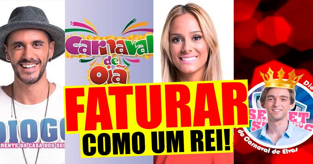 """Photo of """"Rei do Carnaval"""" a melhor altura para os ex-concorrentes faturarem"""