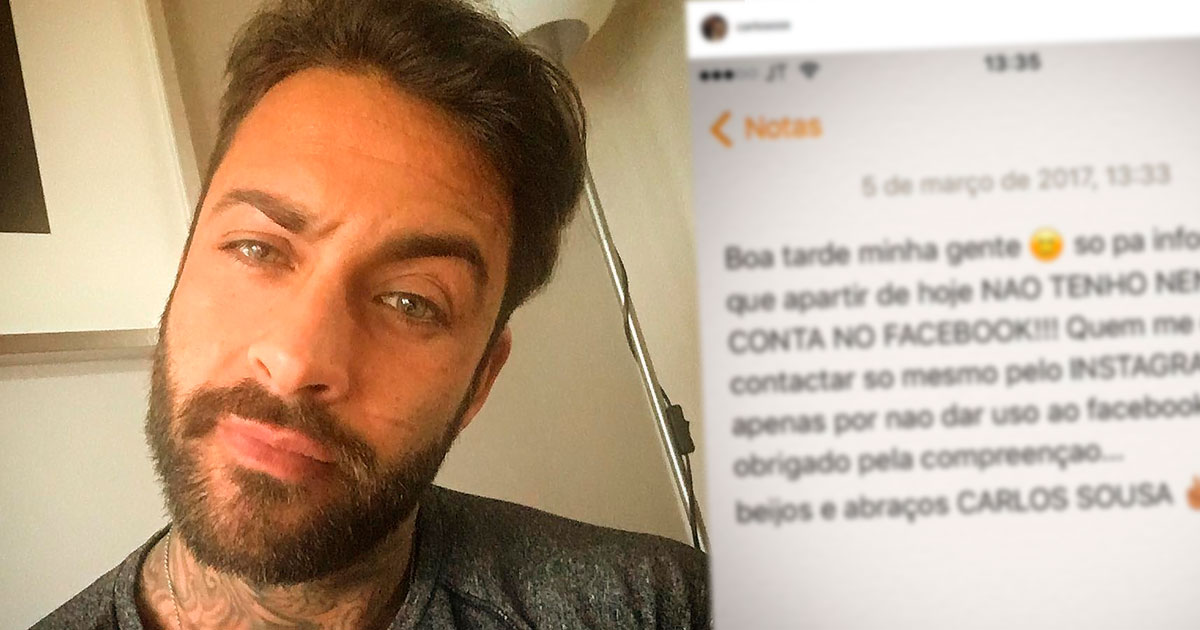 Photo of Carlos Sousa fez post com calinada e acabou aos insultos