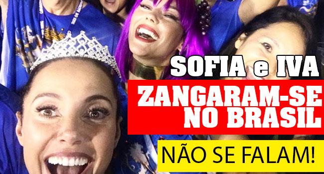 Photo of Sofia Ribeiro e Iva Domingues zagaram-se no Brasil e não se falam