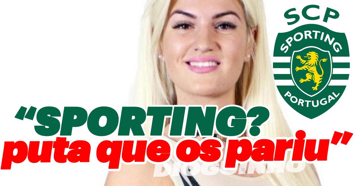 """Photo of Séfora é anti-sportinguistas. """"PUT** QUE OS PARIU"""""""