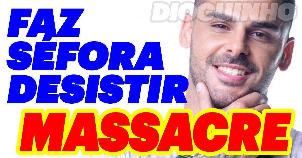 Photo of Bruno Marvão em massacre psicológico, faz Séfora desistir