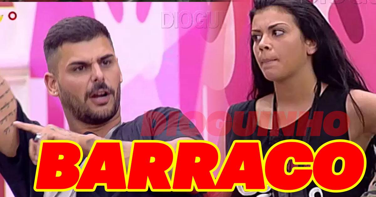 Photo of Bruno Marvão e Joana Brandão discutem durante jogo