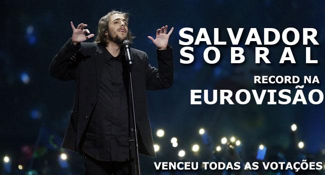 Photo of Salvador Sobral conquista melhor pontuação de sempre da Eurovisão