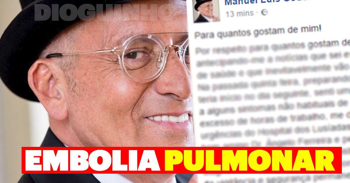 Photo of Manuel Luís Goucha está INTERNADO e conta tudo nas redes sociais