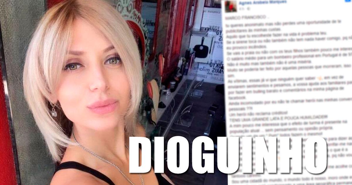 """Photo of Agnes Arabela responde ao bombeiro """"Tens uma grande lata e pouca humildade"""""""