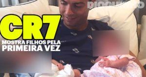 Cristiano Ronaldo partilha primeira fotografia com os gémeos