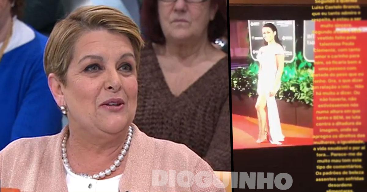 Photo of Sofia Ribeiro reagiu a criticas de Luísa Castel Branco