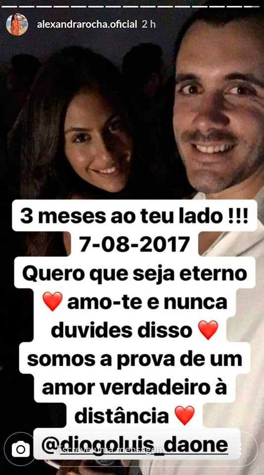 Alexandra E Diogo Celebram 3 Meses De Namoro Amor Verdadeiro à