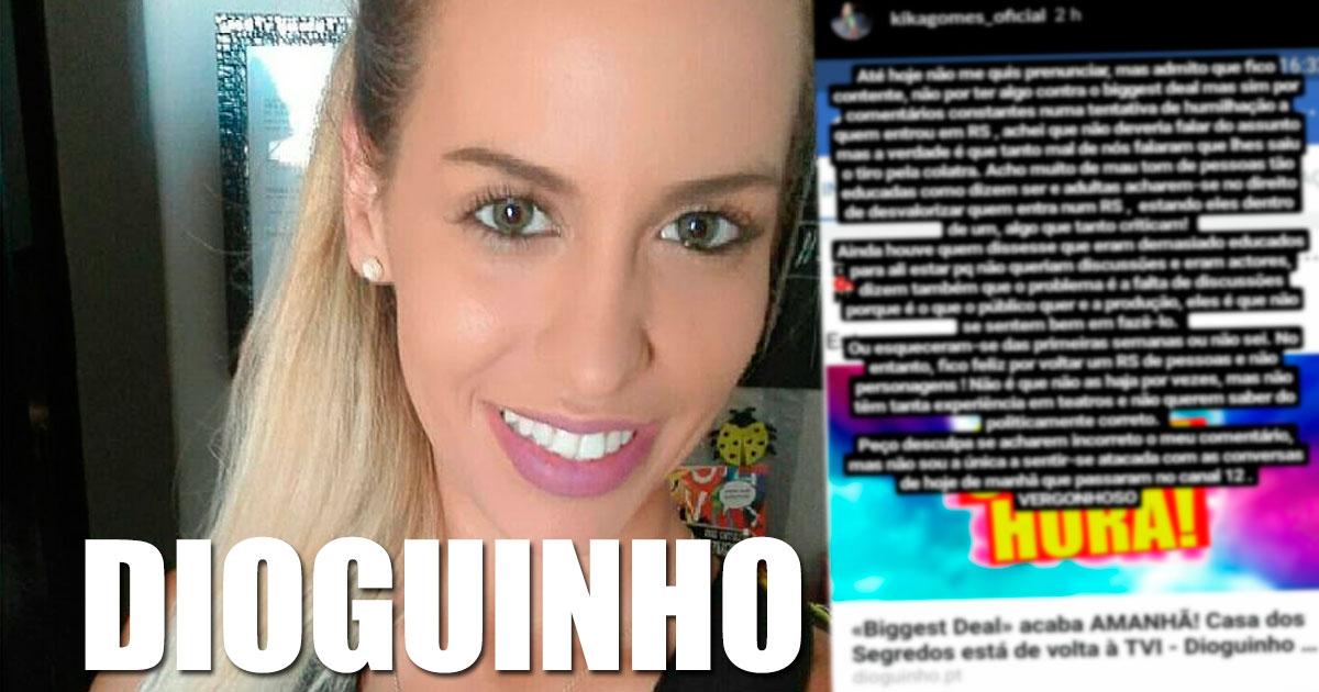Photo of Kika Gomes foi gritar uma mensagem para Margarida Aranha