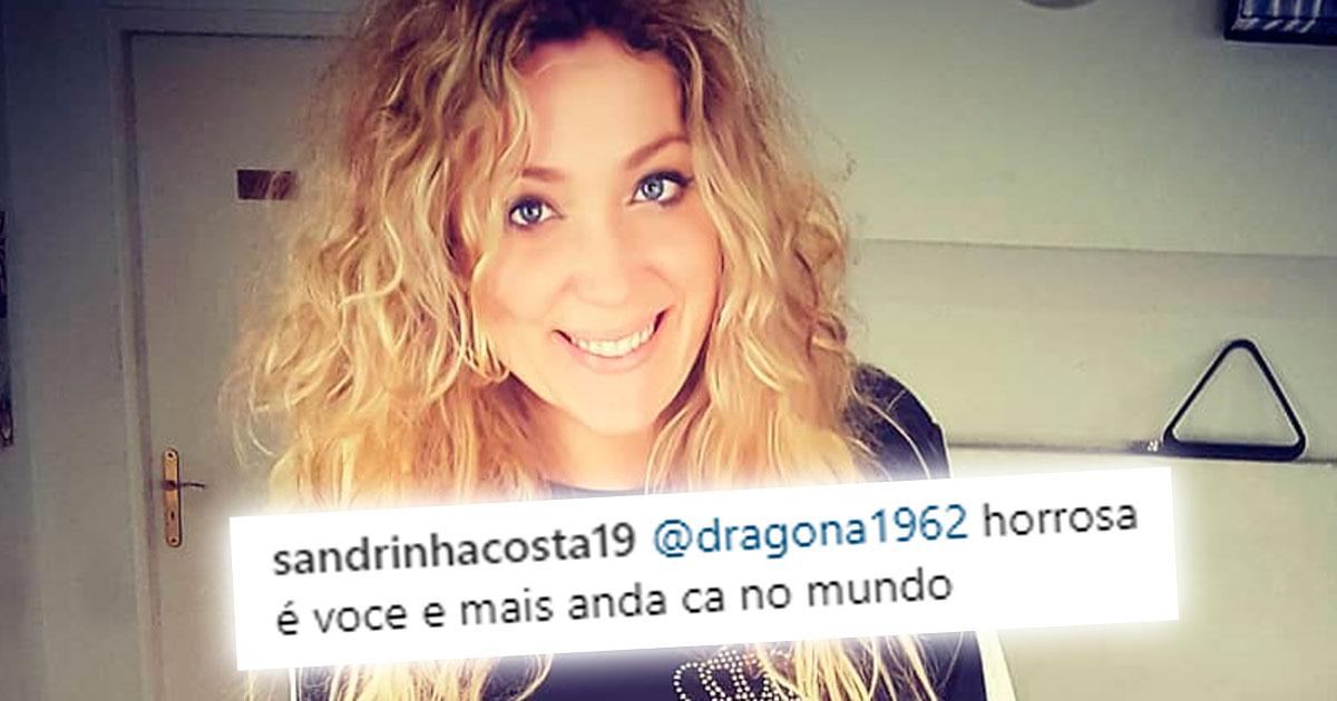 """Photo of Sandra Costa em troca de bocas com seguidora """"horrorosa é você"""""""
