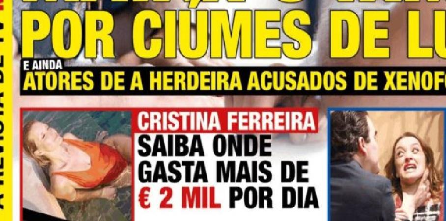 Photo of Cristina Ferreira gasta 2 mil euros dia nas férias
