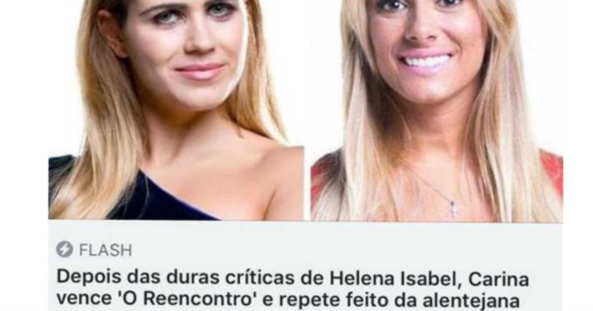 Photo of Carina é comparada a Helena Isabel e alentejana REAGE