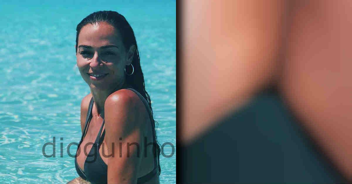 Photo of Vanessa Martins quase mostra o que não deve durante as férias