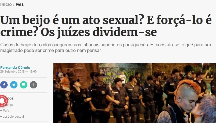 Photo of Um beijo forçado é crime?