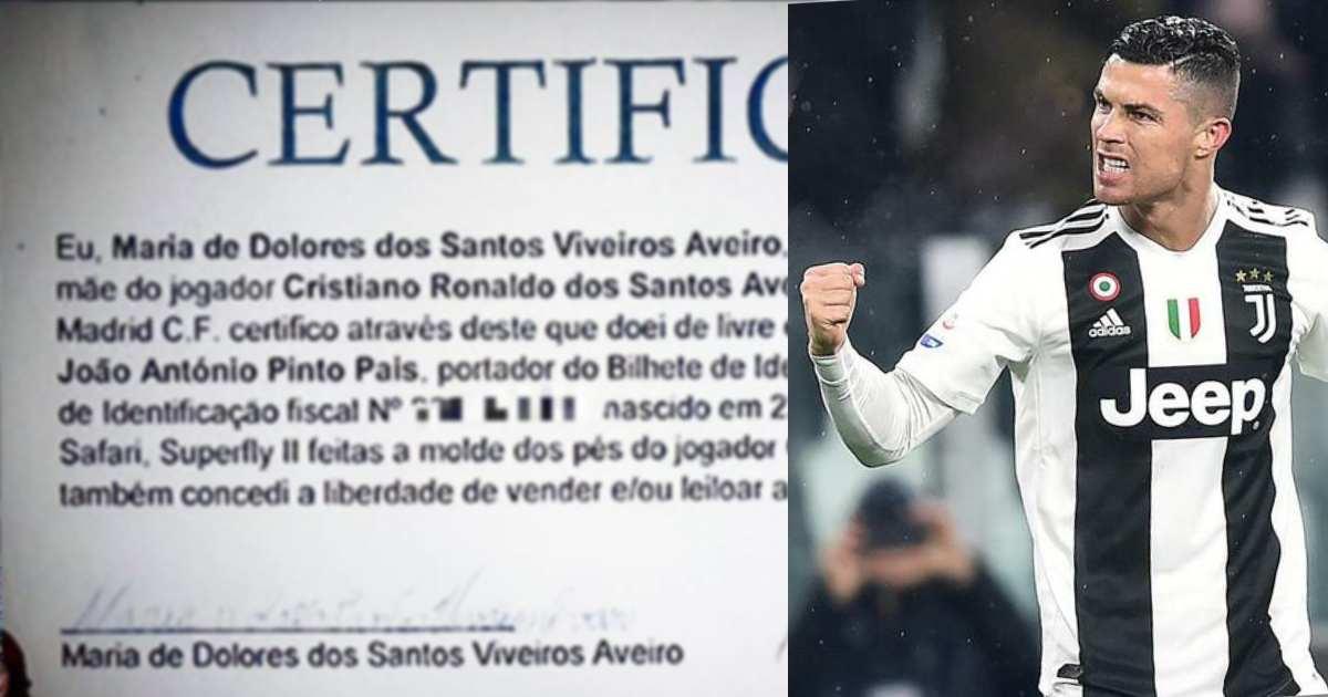 Photo of 'A humildade e o coração gigante que tem' o Cristiano Ronaldo