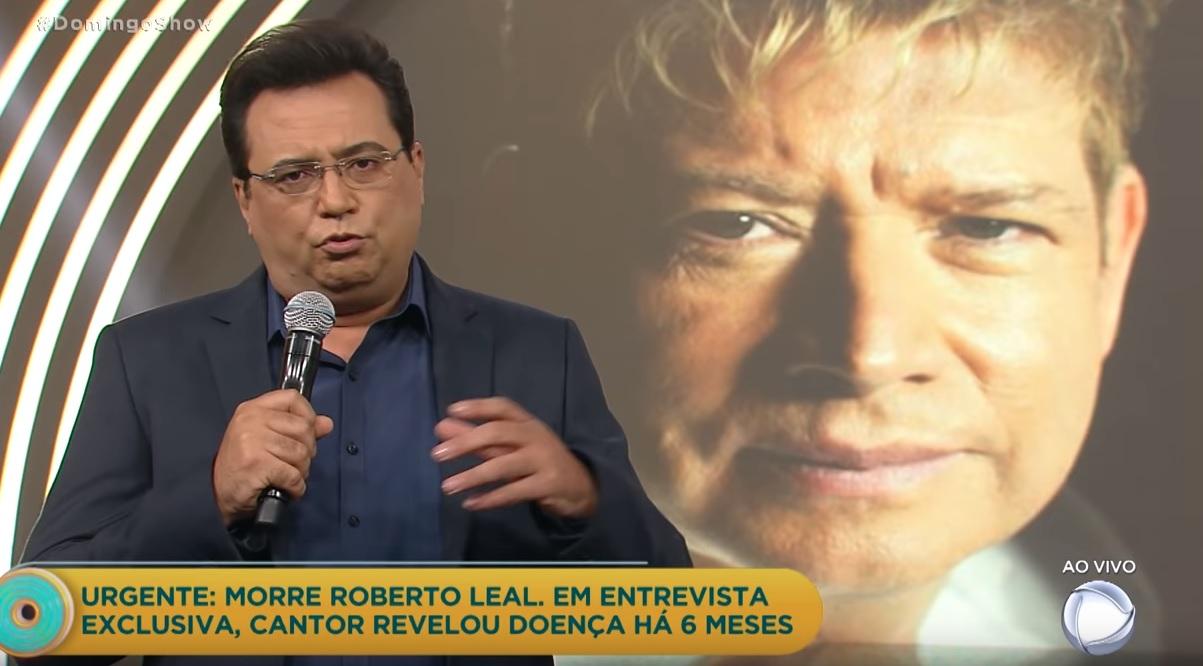 Photo of Apresentador brasileiro emociona-se ao anunciar morte de Roberto Leal