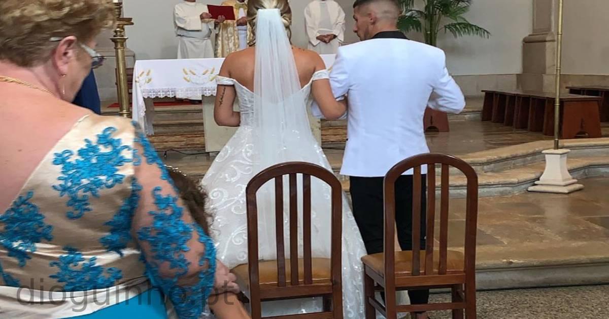 Photo of As primeiras imagens do casamento de Cristiana Jesus e Cláudio Alegre